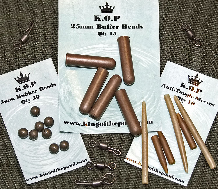 King Of the Pond Rubber Bead, Buffer Beads and Anti-Tangle Sleeves