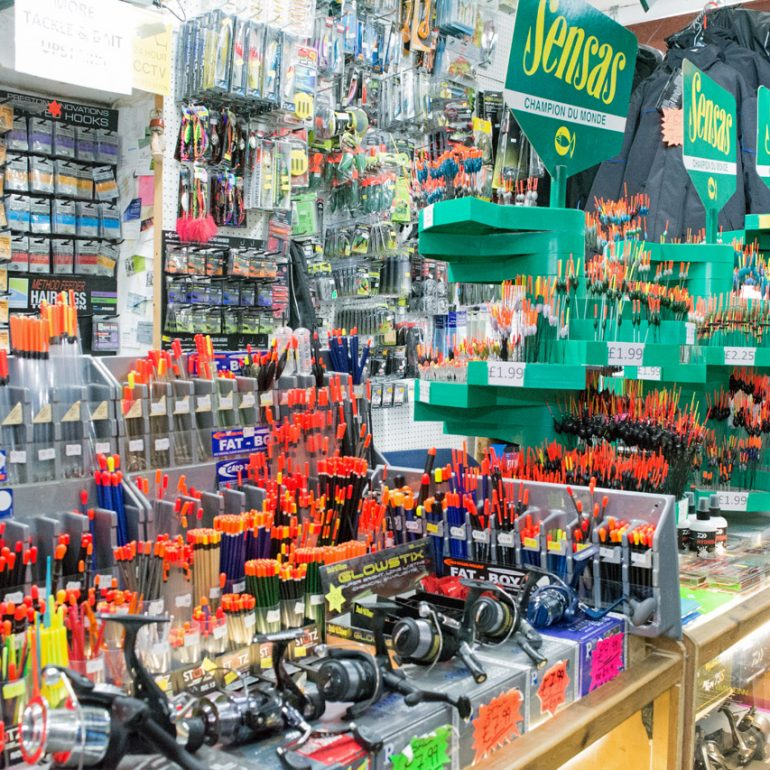Coarse & Match Tackle Department at Phil's Bait & Tackle – Fishing Tackle Shop in Sutton-in-Ashfield, Notts